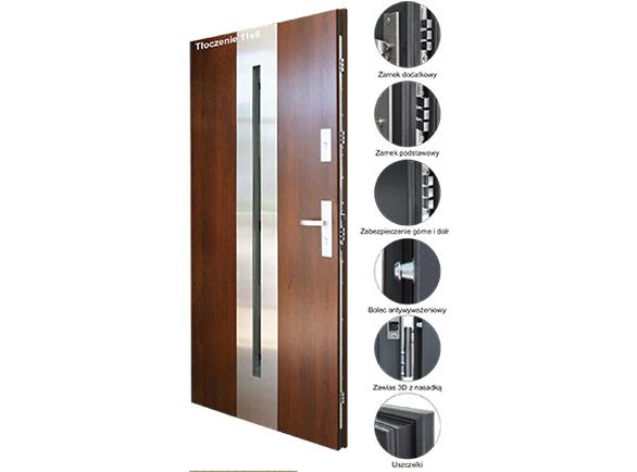 Drzwi stalowe KMT PLUS 75 passive