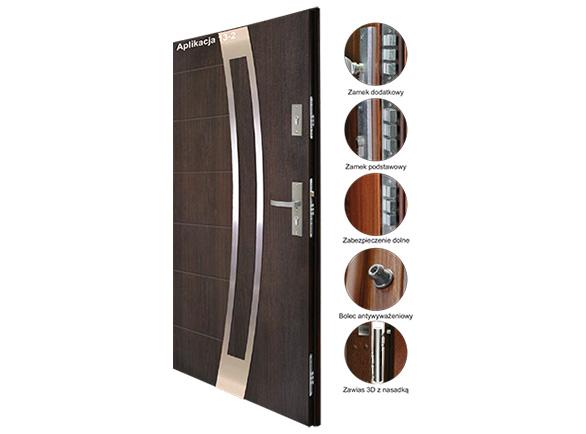 Drzwi stalowe KMT PLUS 75