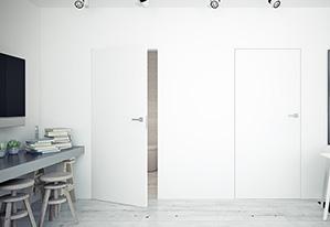 Drzwi ukryte zlicowane ze ścianą