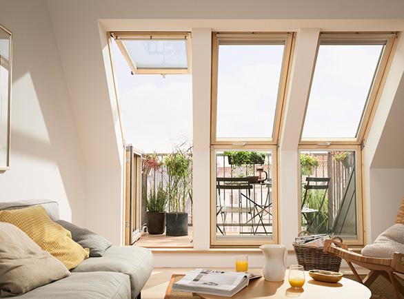 Okna dachowe-balkonowe Velux