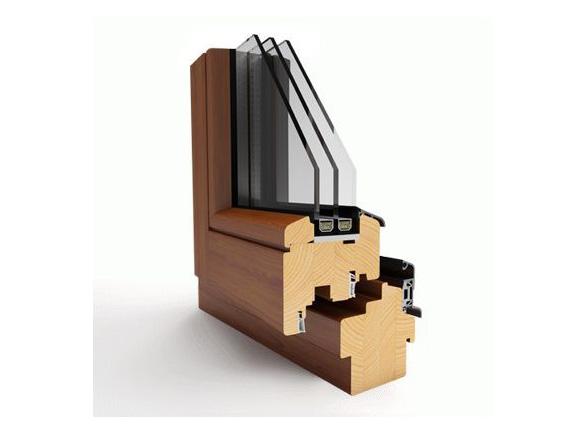 Okno drewniane Witraż Ecoline 68, Thermoline 78, Ecotherm 92