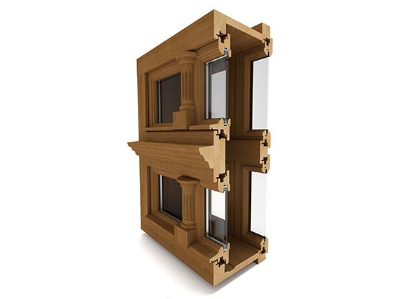Okna drewniane Witraż skrzynkowe, renowacyjne